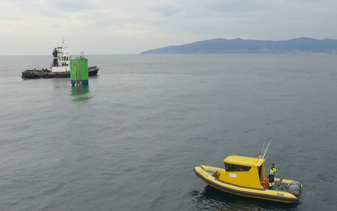 Wave energy device successfully deployed at BiMEP site