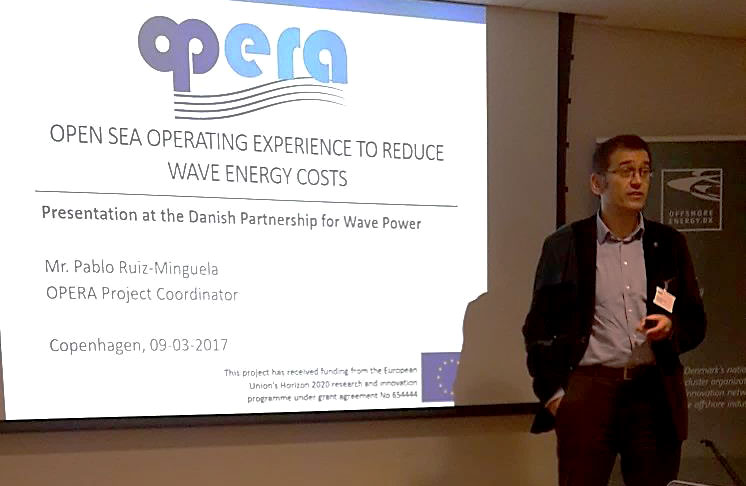 OPERA took part at the Danish Partnership for Wave Energy